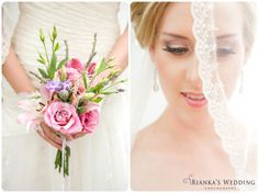 bridal beauty + bouquet + veil | Rianka's Wedding Photography
