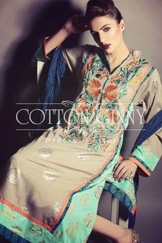 Summer Wear Eid Collection For Girls By Cotton Ginny From 2014