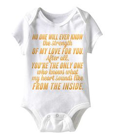 Look what I found on #zulily! White 'What My Heart Sounds Like' Bodysuit - Infant by Happy Soul #zulilyfinds