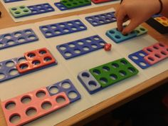 Numicon game- make 10 in pairs using dice.