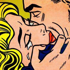 Roy Lichtenstein - Kiss V, 1964