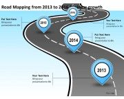 product roadmap timeline road mapping from 2013 to 2016 business growth powerpoint templates slides