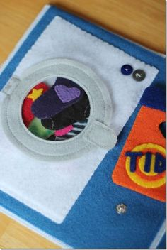 Laundry socks quiet book page