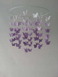Butterfly Nursery Baby Mobile Ombre Purple by magicalwhimsy, $58.00