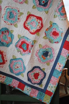 when eight create: French Roses Quilt