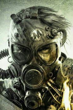 Gas mask, post apocalyptic!!