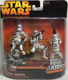 2005 Hasbro Star Wars Revenge Of The Sith - Clone Troopers This item is NOT in Mint Condition and is in no way being described as Mint or even Near Mint. Our toys have not always lead the perfect life