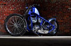 Harley Davidson Shovelhead Bobber by Violent Choppers #motorcycles #bobber #motos   caferacerpasion.com