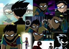 Teen Titans Robin: I love how he's like a teenage Batman in this.