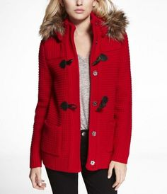 EXPRESS TOGGLE-FRONT SWEATER COAT - Looks super snuggly. Mmmm. #expressholiday