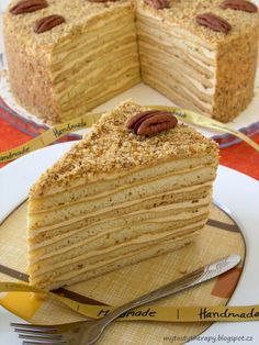 medovnik Carrot Cake, Apple Pie, Baking Recipes, Tart, Carrots, Sweets, Bread, Cookies, Dinner