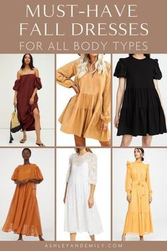 The Best Dressy & Casual Dresses For Autumn! Fall is here, which means it's time to shift our focus from summertime looks to fall fashion outfits! Although jeans and sweaters are the stars of Autumn looks, fall dresses are equally as wonderful and can be styled in so many ways. Here are some of the best fall dresses this year, from mini and midis to sweater dresses and floral prints. #FallFashion #2020Fashion #Dresses