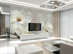 Venta al por mayor vinilo straw lines 3d mural de la pared mangnolia blanco murales de flores para sala de estar del fondo del sofá foto 3d mural sticker en Papel Pintado de Casa y Jardín en AliExpress.com | Alibaba Group