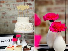 dessert table ideas in Modern Black and Gold Wedding Ideas featured on Wedding Chicks! // http://www.weddingchicks.com/2013/12/31/black-and-gold-wedding-ideas/