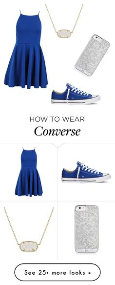 """Untitled #38"" by ashtian22 on Polyvore featuring Converse and Kendra Scott"