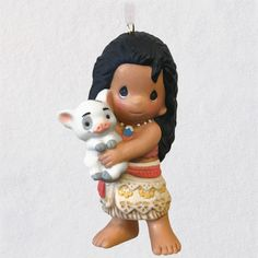 2020 Disney Moana and Pua Precious Moments® Porcelain Ornament - Keepsake Ornaments - Hallmark