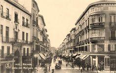 #Málaga. Calle Marqués de Larios. Años 30