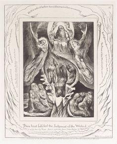 William Blake, 'The Fall of Satan', 1825, reprinted 1874