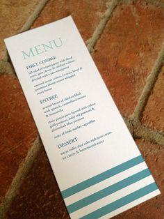 DIY Printable Waves Wedding Reception Menu by FiraPrintables