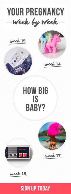Expecting? Get weekly updates on your baby's development and how big your baby is (this is not another fruit comparison, promise!). Everything you need to know about your pregnancy, one email at a time. It's like tips and advice from your BFF, your big sis, and your OB all rolled into one! Sign up now.
