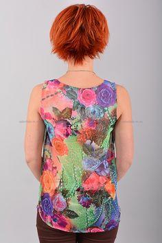 Блуза В0419  Цена: 490 руб  Размеры: 42-50    Полупрозрачный стильная блуза с округлым вырезом горловины.  Выполнено из легкого материала с контрастным рисунком.  Модель свободного кроя, без рукавов.  Состав: 100 % шифон.  Рост модели на фото: 156 см.  (маломерит на размер)     http://odezhda-m.ru/products/bluza-v0419     #одежда #женщинам #блузкирубашки #одеждамаркет