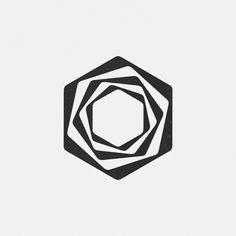 Design every day styl geometryczny, g Web Design, Icon Design, Logo Design, Graphic Design, Geometric Logo, Geometric Designs, Geometric Shapes, Geometric Patterns, Op Art