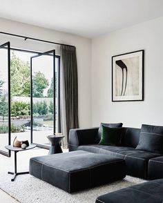 Robson Rak Toorak2 has an important connection to the garden through pivot steel doors. @brookeholm @marshagolemac #robsonrak Gorgeous linen curtains by @invogueblinds