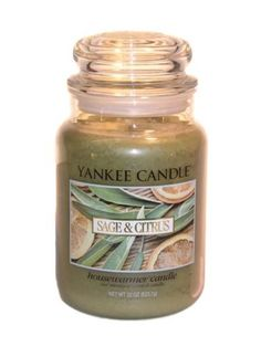 Yankee Candle Sage & Citrus- Favorite Candle Scent!