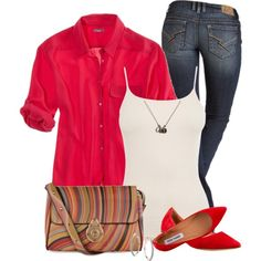 Red Top, created by daiscat on Polyvore