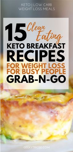 Easy keto breakfast recipes to help you stick to your ketogenic diet on those busy Ketogenic Breakfast, Low Carb Breakfast, Healthy Breakfast Recipes, Clean Eating Recipes, Ketogenic Diet, Breakfast Ideas, Healthy Recipes, Keto Friendly Desserts, Low Carb Desserts