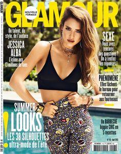 Jessica Alba en couverture du magazine Glamour n°113 (août 2013)