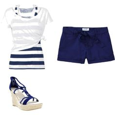 Blue and white, created by jasmineambry on Polyvore