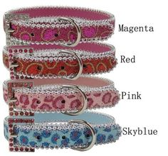 Handcrafted Shiny Bling Dog Collar