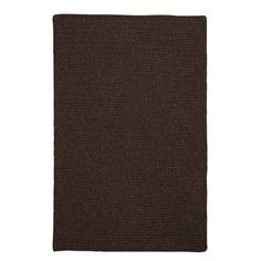 Colonial Mills Courtyard Cocoa Rug Fringe: Included, Rug Size: 4' x 6'