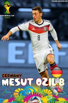world cup art | Mesut Ozil Germany World Cup 2014 Wallpaper by jafarjeef