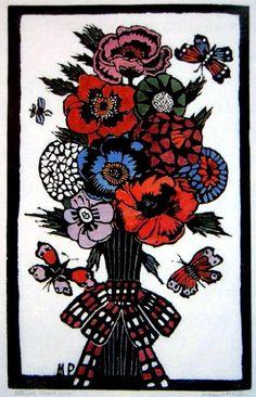 Prints & Graphics - Margaret Rose (MacPherson) Preston - Page 4 - Australian Art Auction Records Margaret Preston, Margaret Rose, Australian Painting, Australian Artists, Bird Fountain, Australian Flowers, National Art, Aboriginal Art, Art Auction