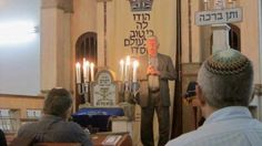 Alex Konstantyn speaking in Tel Aviv about his experiences during the Holocaust, April 18, 2017. Rabbi Ariel KonstantynREMEMBERING THE 'PARTIAL JEWS': Beit Hill