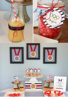 FREE OLYMPIC PARTY PRINTABLES + an Olympic Themed Birthday Party via Kara's Party Ideas- | http://sweetpartygoodsberenice.blogspot.com