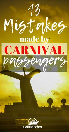 Here are the biggest mistakes people make when taking a cruise on a Carnival Cruise Line cruise ship. Use these Carnival cruise tips wisely and feel free to add your own advice in the comment section below. Carnival Cruises Join Us Bahamas Cruise, Caribbean Cruise, Carnival Cruise Bahamas, Cruise Travel, Cruise Vacation, Disney Cruise, Honeymoon Cruises, Vacation Travel, Vacation Trips