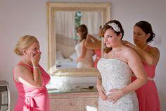 Mother of the Bride Reaction // Nautical Wedding // @Windjammer Landing #destinationwedding #windjammer #wedding  #nauticalwedding