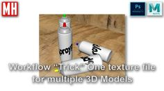 "Maya ""workflow trick"" : How to use one Texture file for multiple 3D obje..."