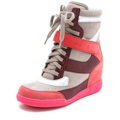 Marc by Marc Jacobs Wedge Sneakers ($328) ❤ liked on Polyvore