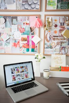 Modern Home Office Decorating Ideas DIY office decor guide diy Office Workspace, Home Office Desks, Office Decor, Office Ideas, Workspace Inspiration, Inspiration Wall, Decoration, Crafts, Cork Boards