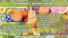 Egy finom gyümölcsturmix receptje #turmix #recept