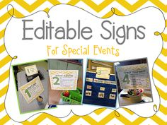 Tunstalls Teaching Tidbits: Classroom Details! {the nitty gritty}  EDITABLE SIGNS.