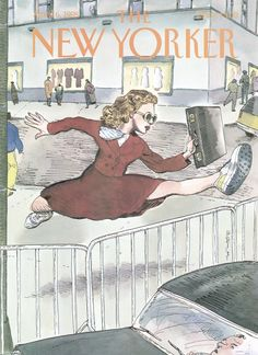 """The New Yorker - Monday, April 6, 1998 - Issue # 3793 - Vol. 74 - N° 7 - Cover """"Taking It In Stride"""" by Barry Blitt"""