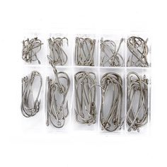 100 pcs Hot Sales Sea Fly Fishing Hooks Tackle Set With Box 10 Size Fresh Water Hot Selling Wholesale free shipping worldwide