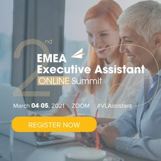 At the 2nd EMEA Executive Assistant Online Summit, our experts will not only inspire you to be the best version of yourself, but they will also offer you the proper tools to help you achieve it. On March 4-5, 2021, you will get a chance to connect with like-minded assistants who want to add new skills to their professional portfolio, grow their network, and learn useful techniques. Join us and meet new friends for an experience that will leave you inspired, informed and empowered! Effective Presentation, Company Work, Virtual Assistant Services, Life Learning, Future Trends, Meeting New Friends, March 4, Keynote Speakers, Emotional Intelligence