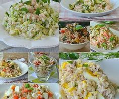Rice Salad, Soup And Salad, Pasta Recipes, Cooking Recipes, Risotto Rice, Vegetarian Recipes, Healthy Recipes, Italian Salad, Cold Meals