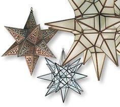 Mexican tin star lanterns